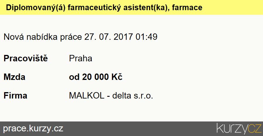 Diplomovaný(á) farmaceutický asistent(ka), farmaceutický laborant(ka), Farmaceutičtí asistenti